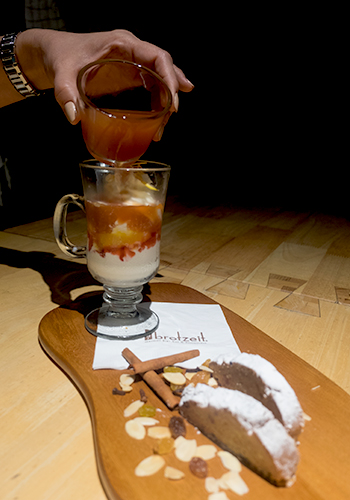 Christmas Gluwein Brotzeit cold with ice cream