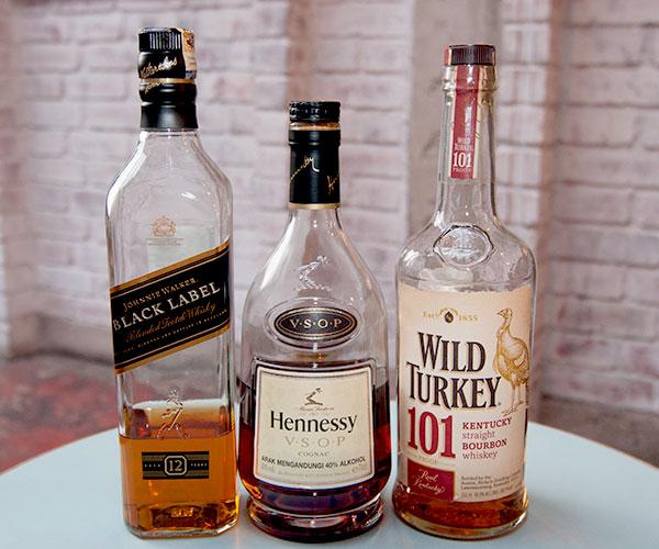 Home bar brown spirits