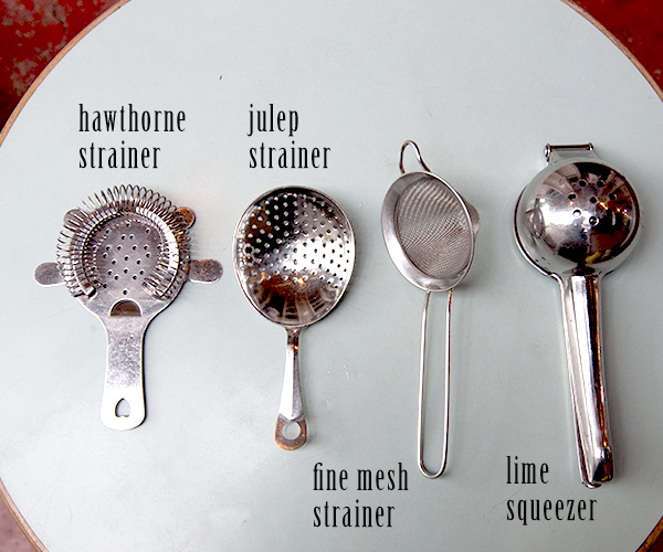 Home bar strainers