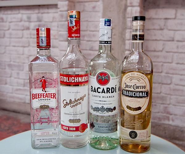 Home bar white spirits