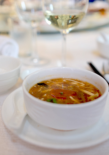 Sweet and Sour Hot Soup at The Mutiara Palace Restaurant