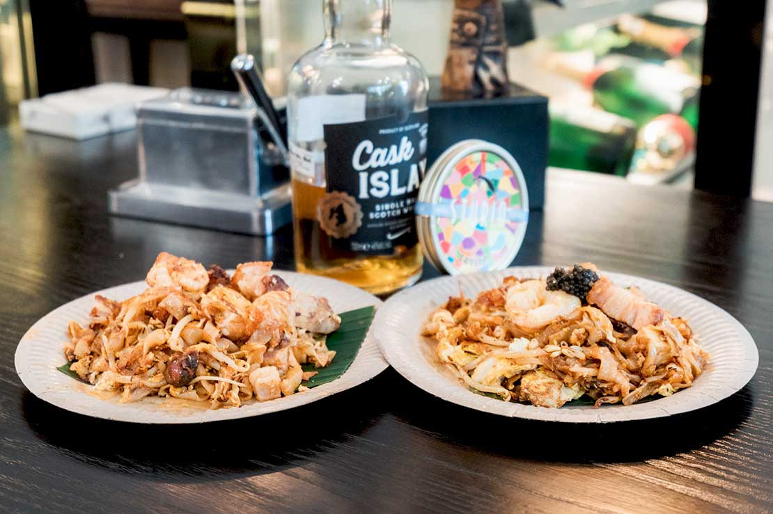 Whisky kuey teow at Dram & Leaf launch
