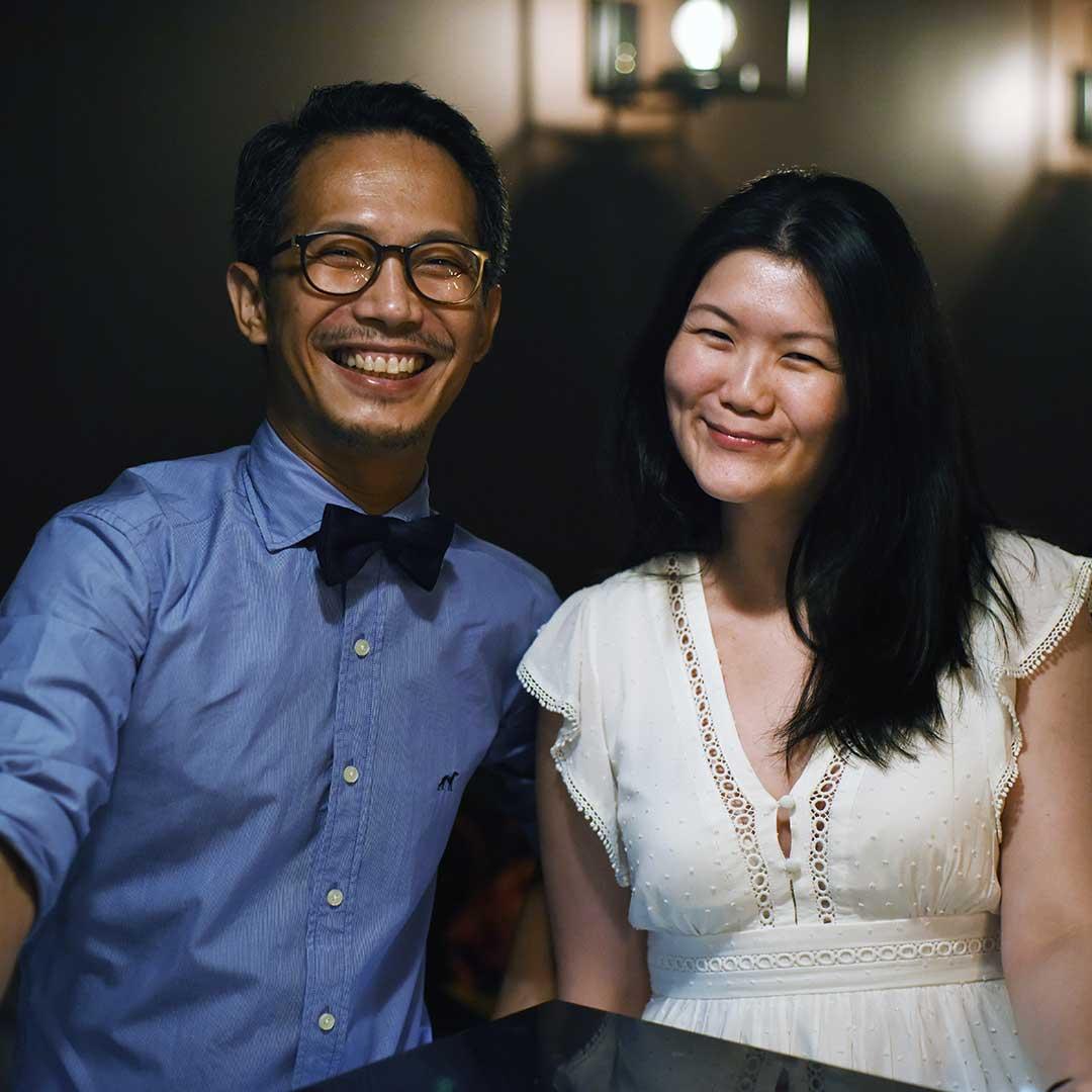 Andrew Tan and Caroline Lai