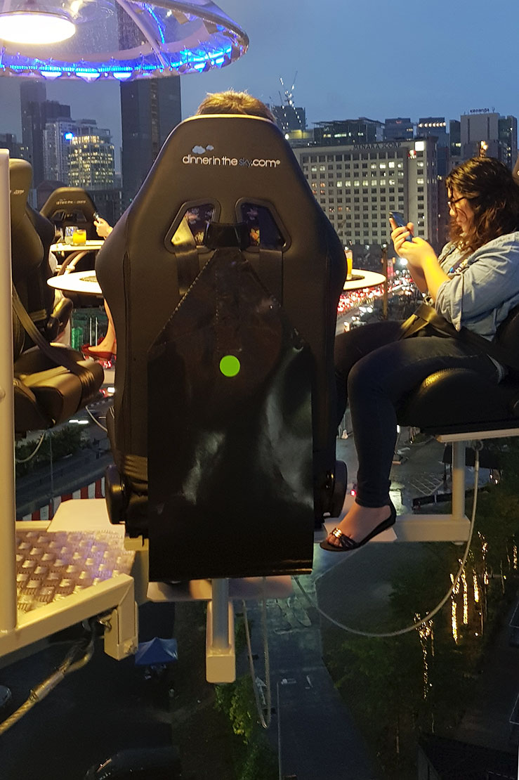 Automotive seat at Lounge In The Sky