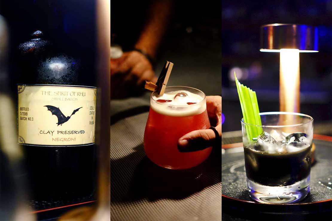 Cocktails in Rhu Bar, Four Seasons Langkawi