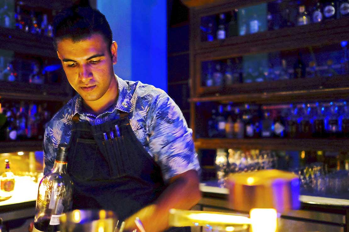 Head Bartender of Rhu Bar Langkawi, Surinder Virk