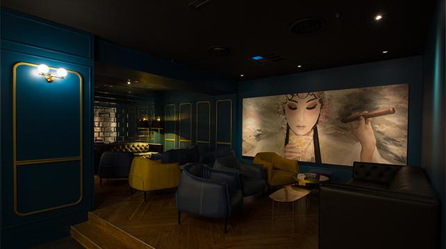 Three X Co Bangsar Shopping Centre interior lounge mural