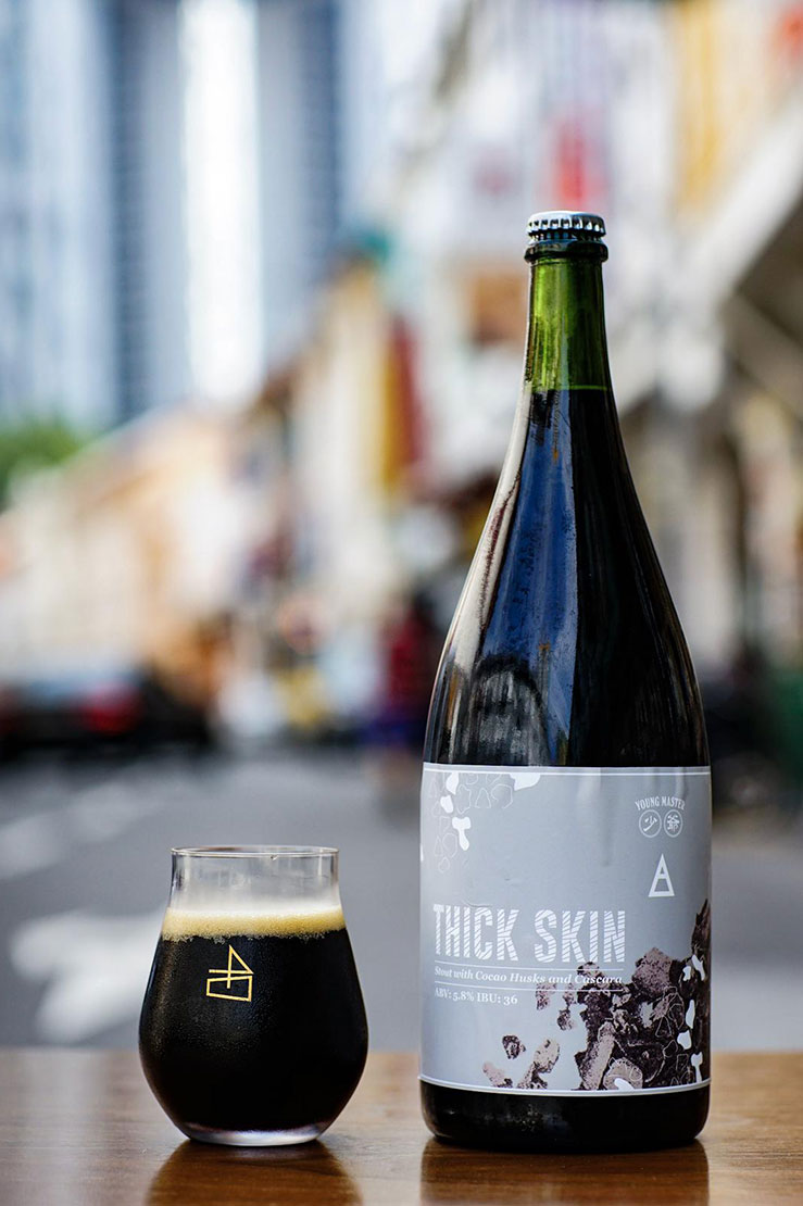 Thick Skin Beer - A collaboration between Young Master and Native SG