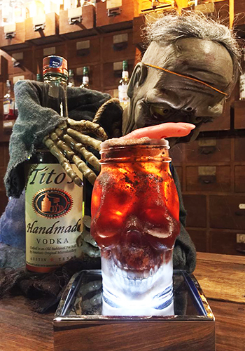 The Deceased Tito's Halloween Cocktail