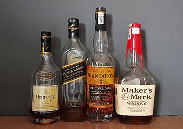 Basic dark Spirits for home bar