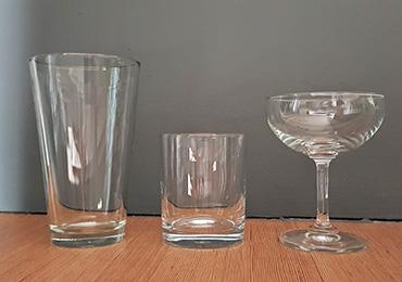Basic glassware for home bar