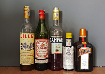 Basic liqueurs for home bar