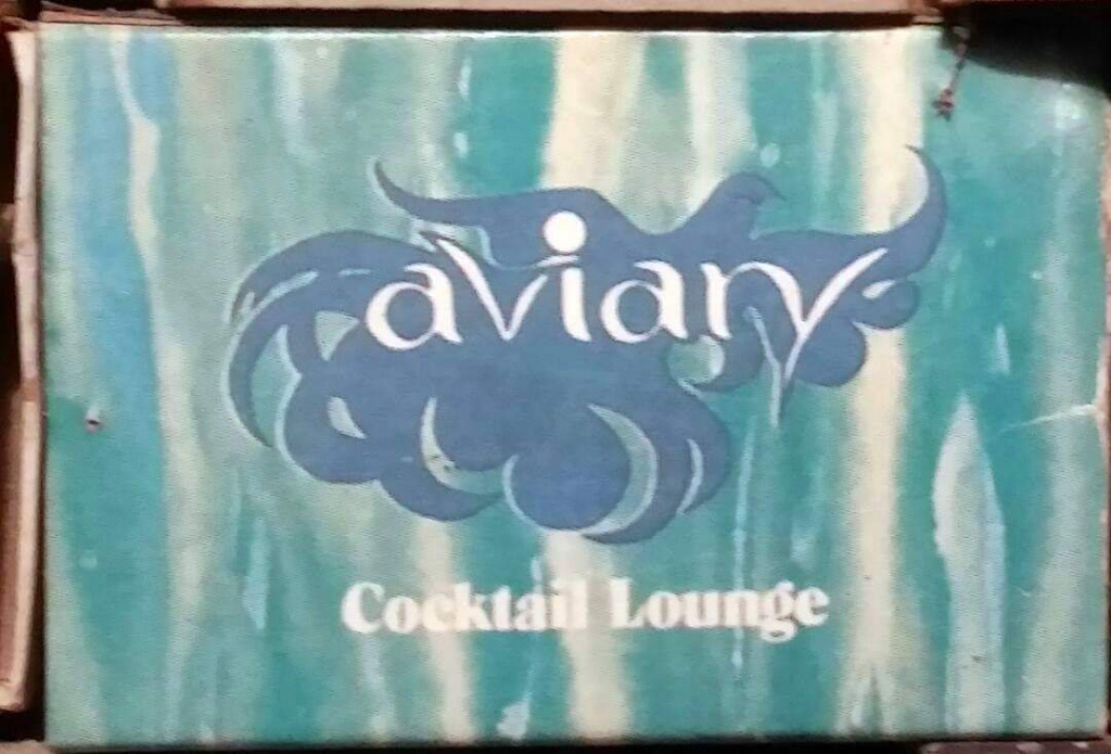Aviary Lounge match box