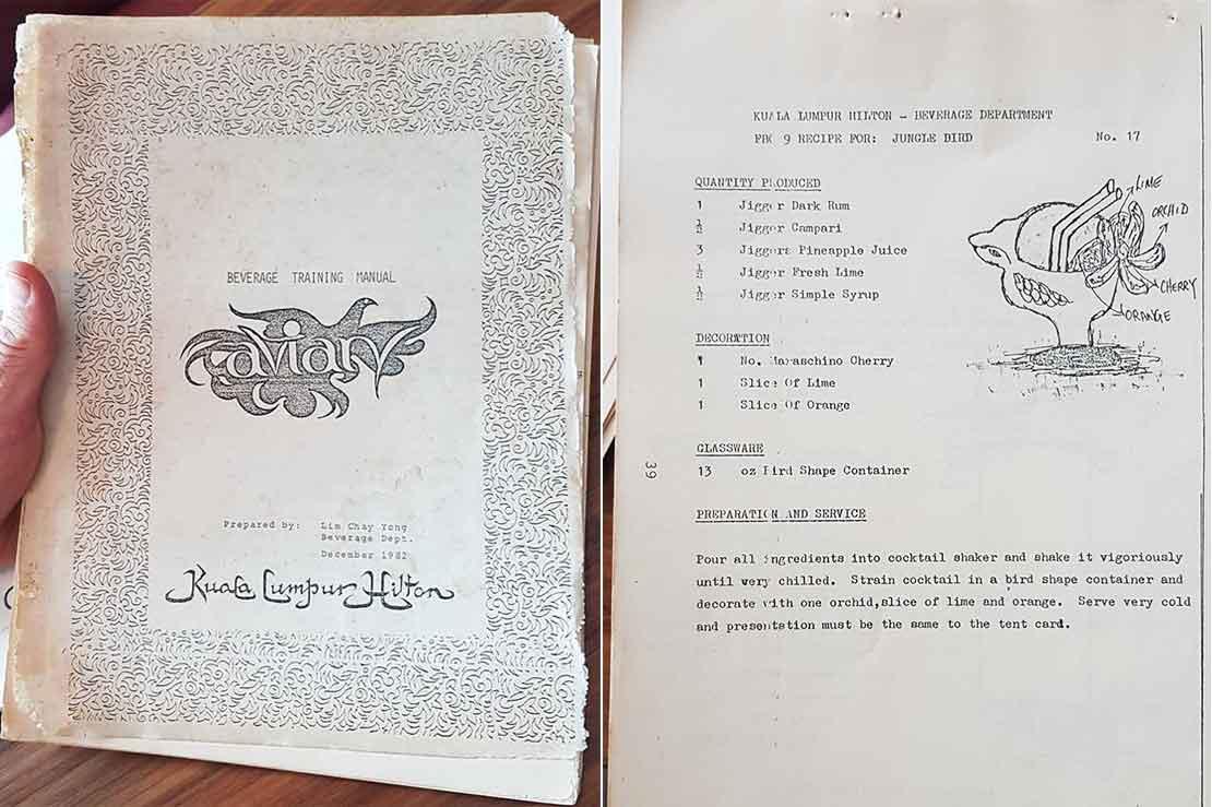Old KL Hilton Beverage Training Manual 1982