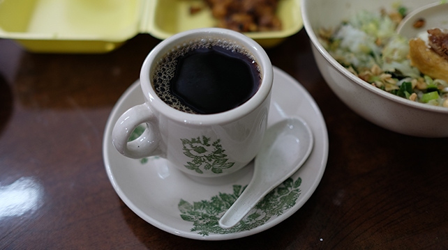 MyLiberica coffee served in local kopitiam
