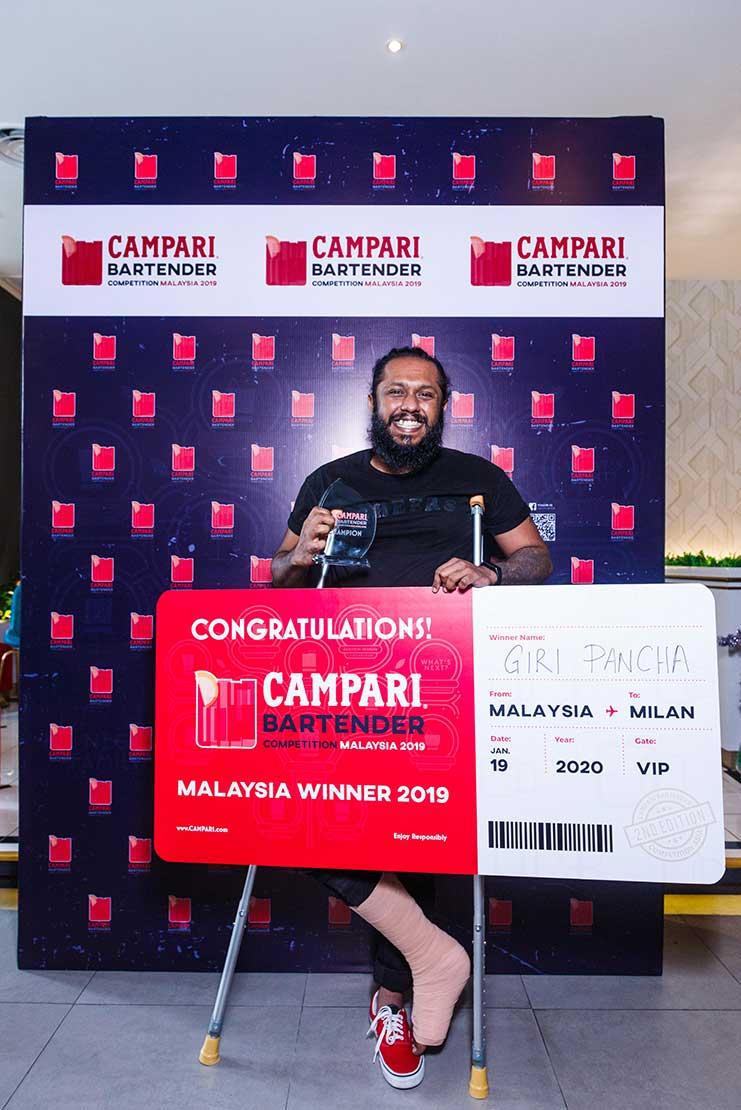 Campari Malaysia 2019 winner Giri Pancha