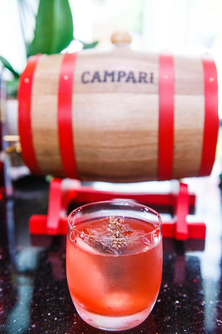 Giri Pancha Cameron Cocktail for Campari Cocktail Competition 2019