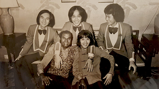 Jason and friends in KL Hilton circa 1975