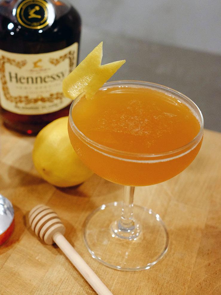Hennessy Cognac Honey Sidecar Recipe