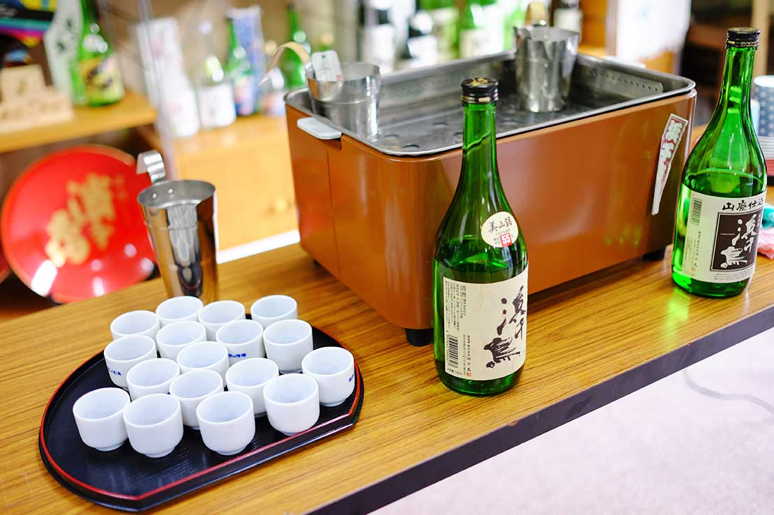 Some sake tastes more umami when warmed up
