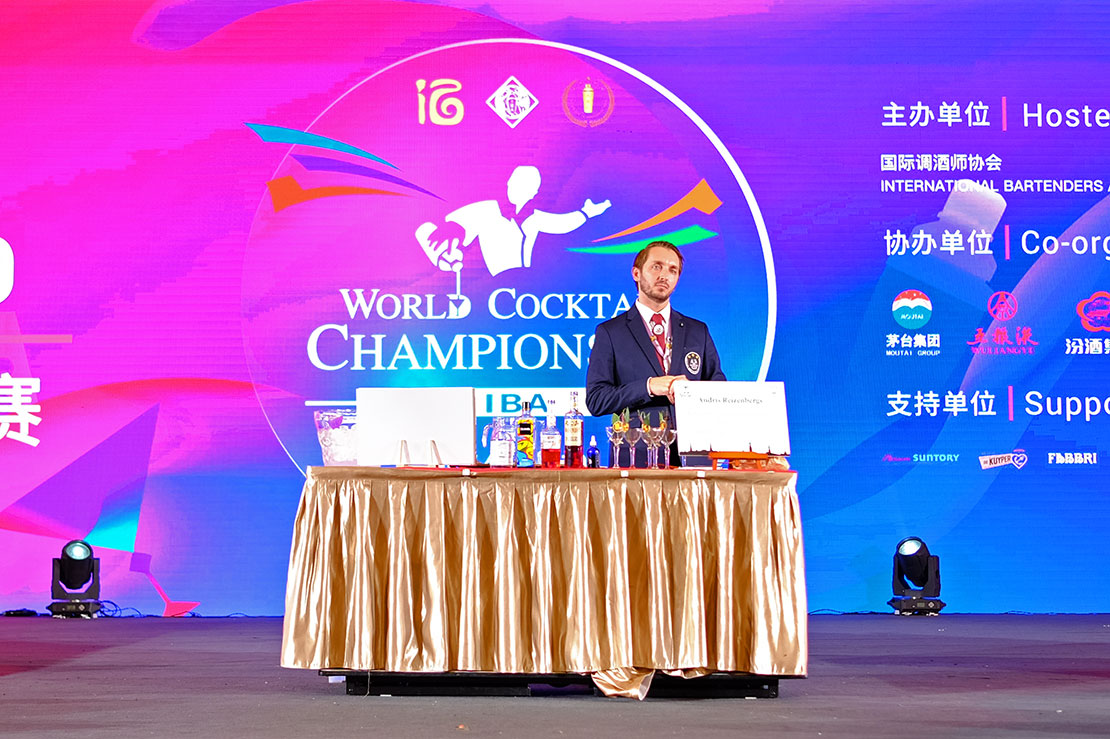 Jiangxiaobai in World Cocktail Championship 2019