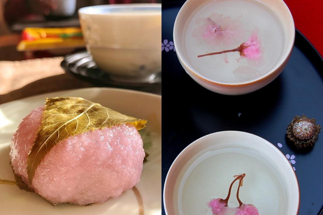 Sakura Mochi and Tea