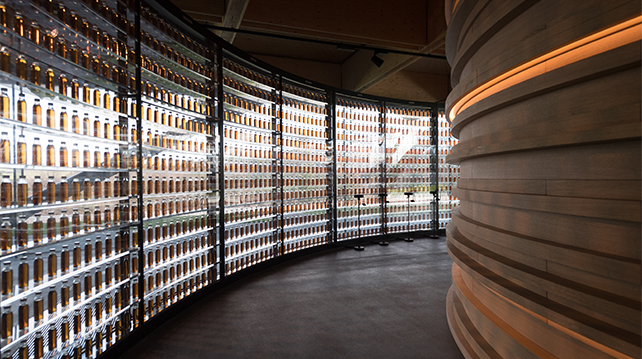 The Macallan distillery six pillars - natural colours
