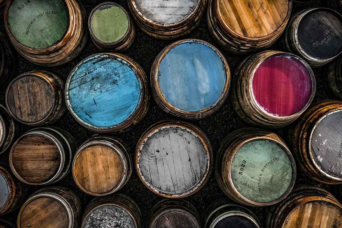 Benriach's colourful barrels