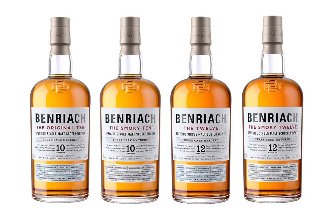 Benriach 10, Smoky 10, 12 and Smoky 12