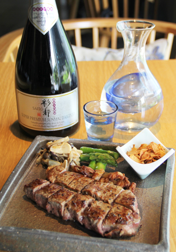 Tatsu Sake Pairing Wagyu Beef