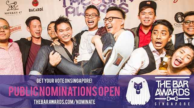 Bar Awards Singapore now open for nomination