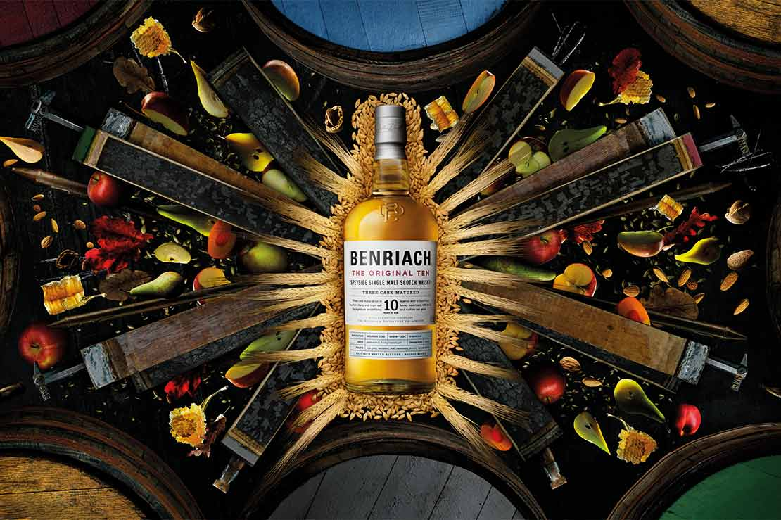 Benriach's refreshed brand direction focusing on flavour
