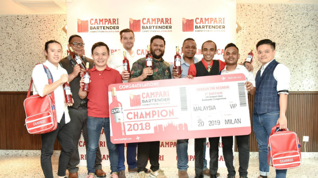 Malaysia's first champion for the Campari Bartender Competition ASIA 2018
