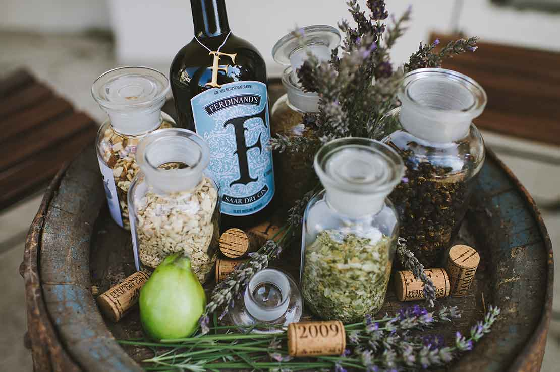 Was gin first made with grapes or grains?