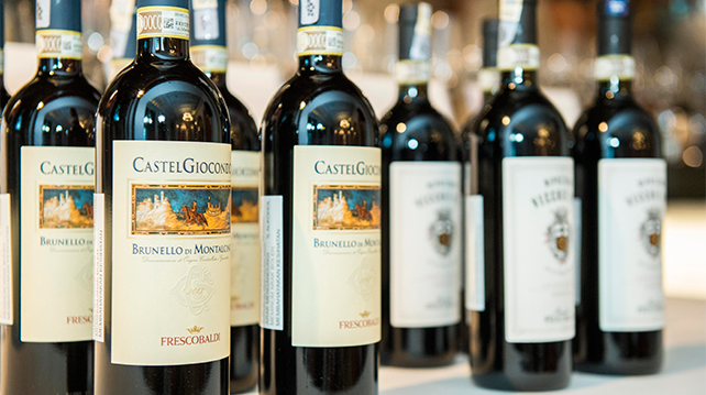 What food to pair with a selection of Frescobaldi wines