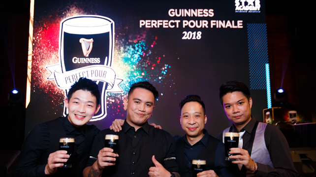 The winners of the Guinness Perfect Pour 2018