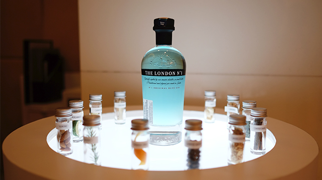 The only blue gin in the world